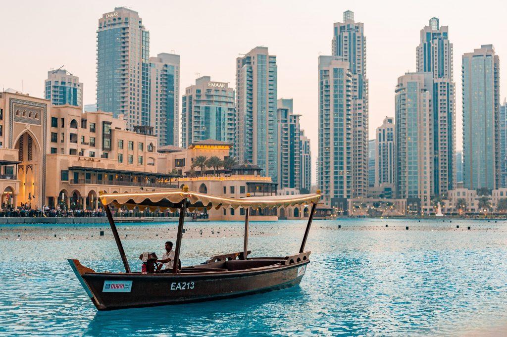 Centrum Dubai met kinderen