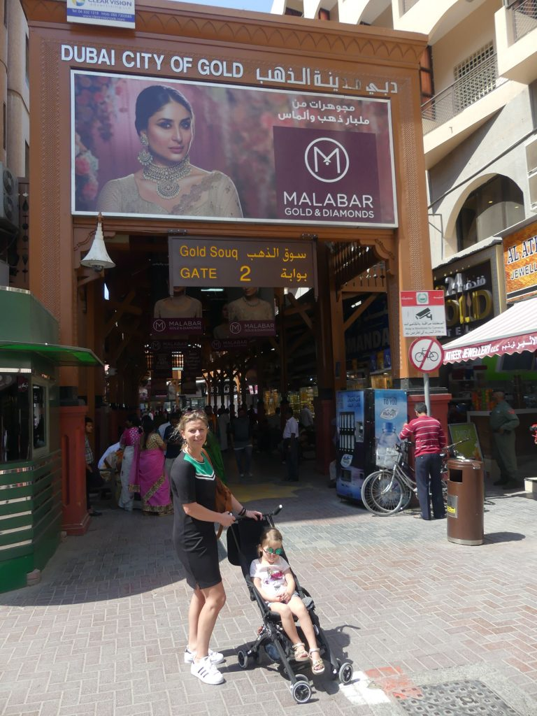 Gold Souk Dubai met kinderen