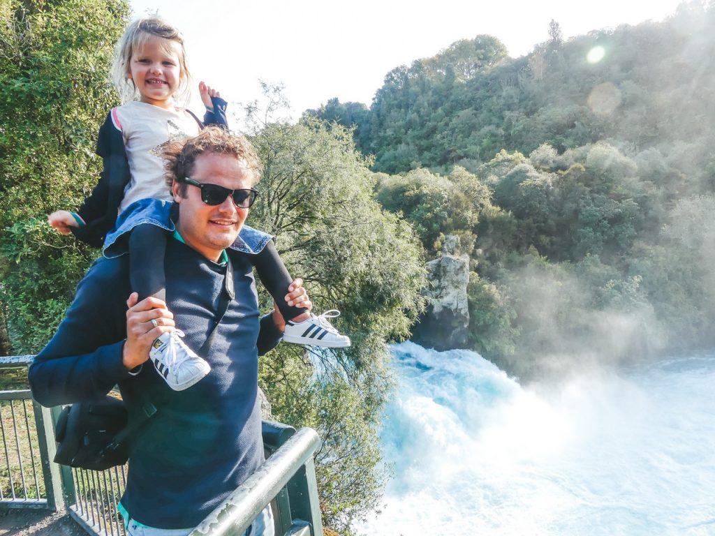 Huka Falls Nieuw-Zeeland met kinderen