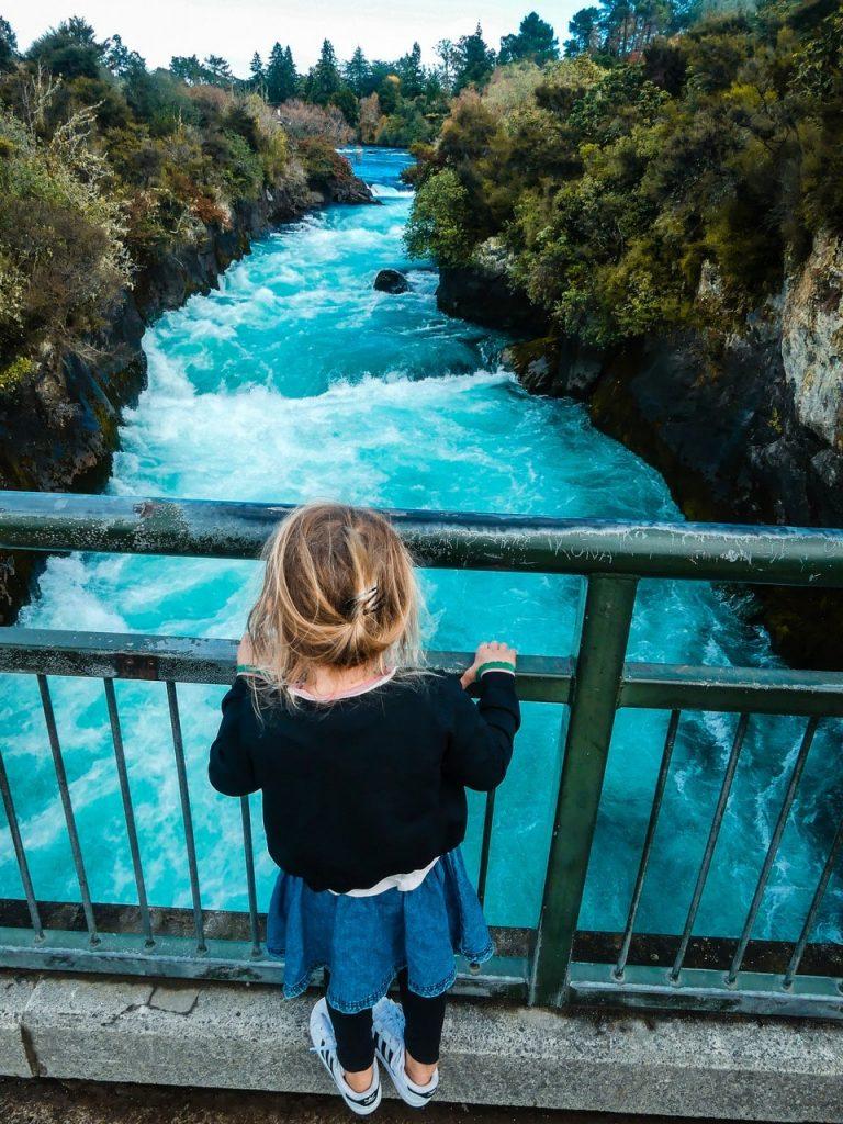 Huka Falls wandeling Nieuw Zeeland met kinderen