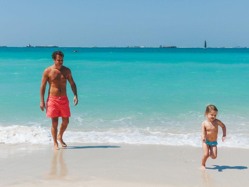 Kite Beach met kinderen strand Dubai