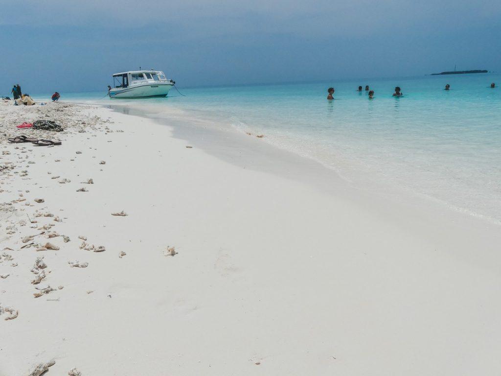 Malediven prachtige stranden met gezin