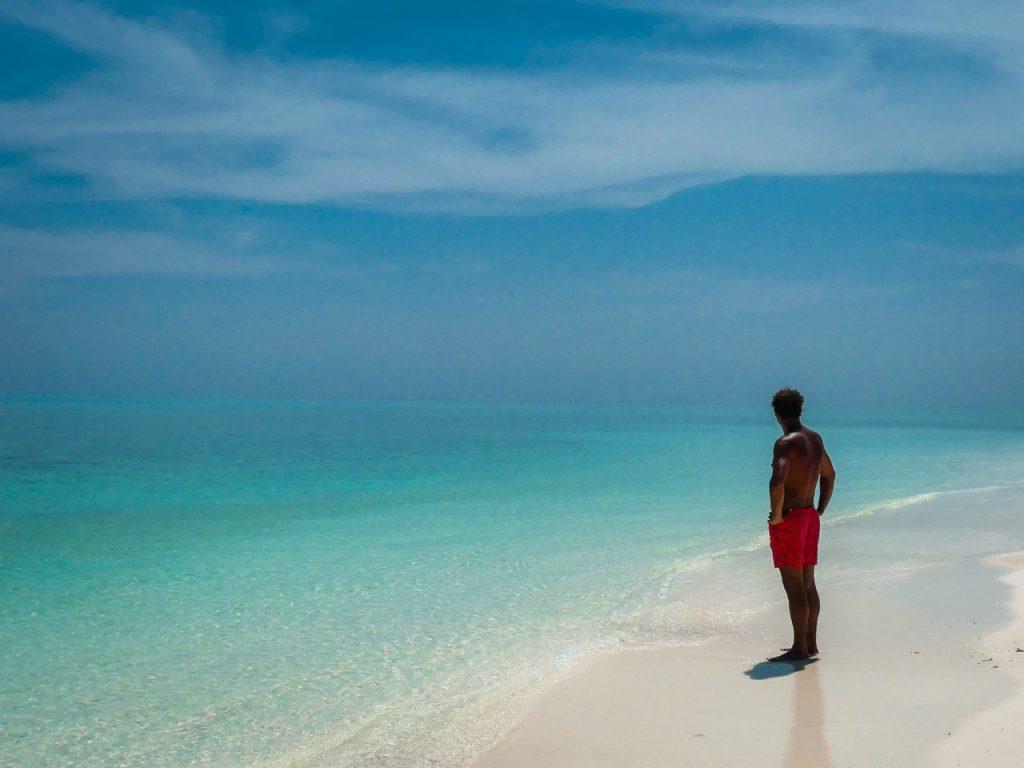 Malediven wit strand met kinderen