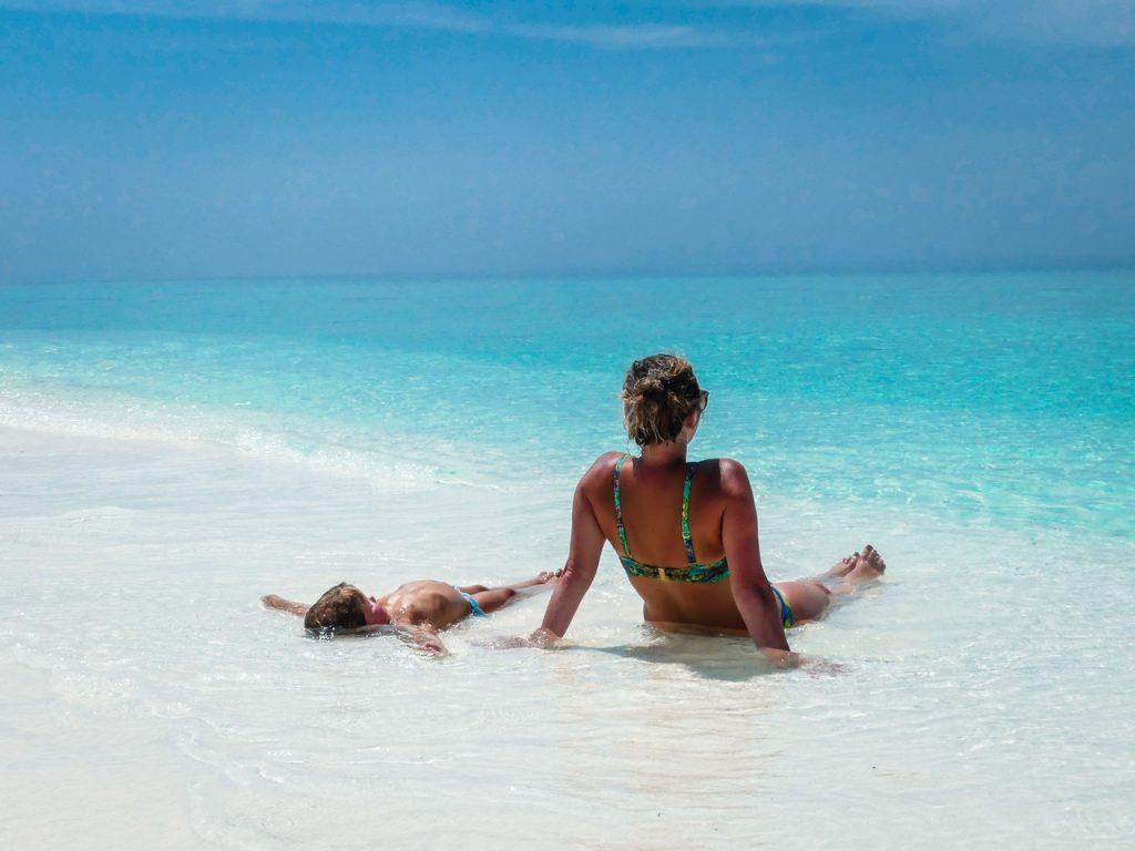 Bounty eiland met gezin Malediven