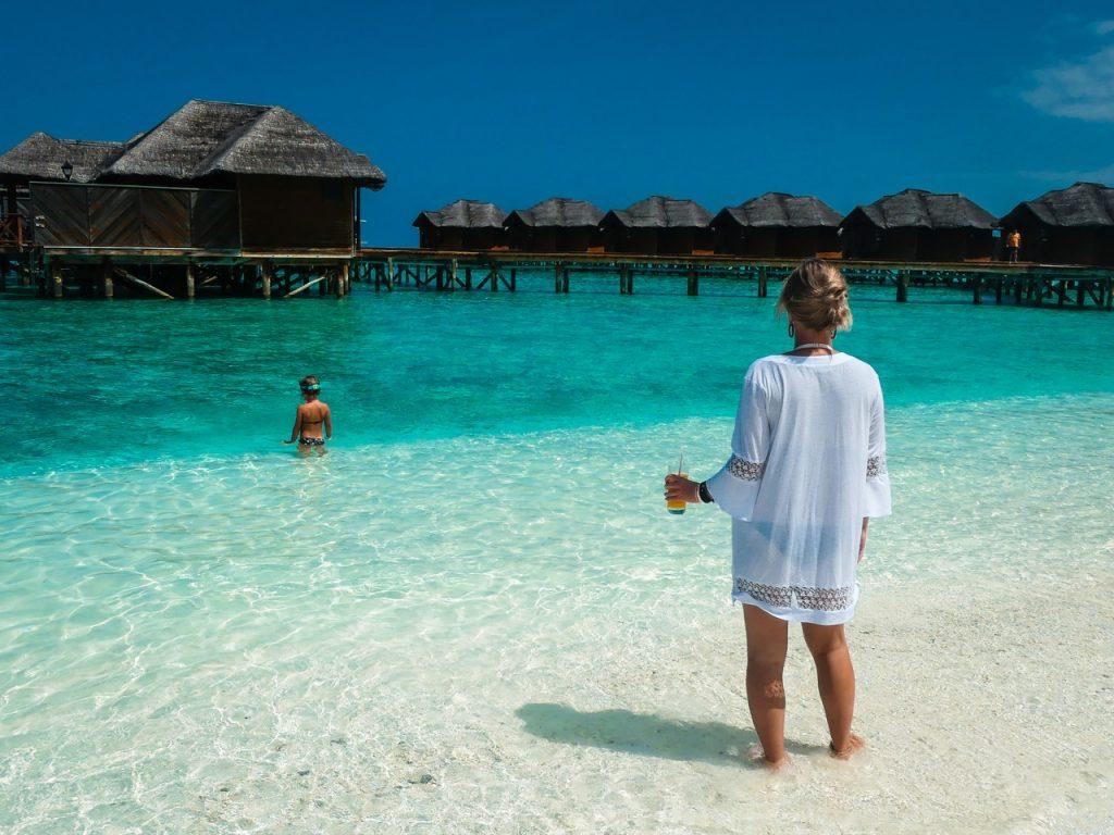 Malediven met kinderen gezin op reis relaxen