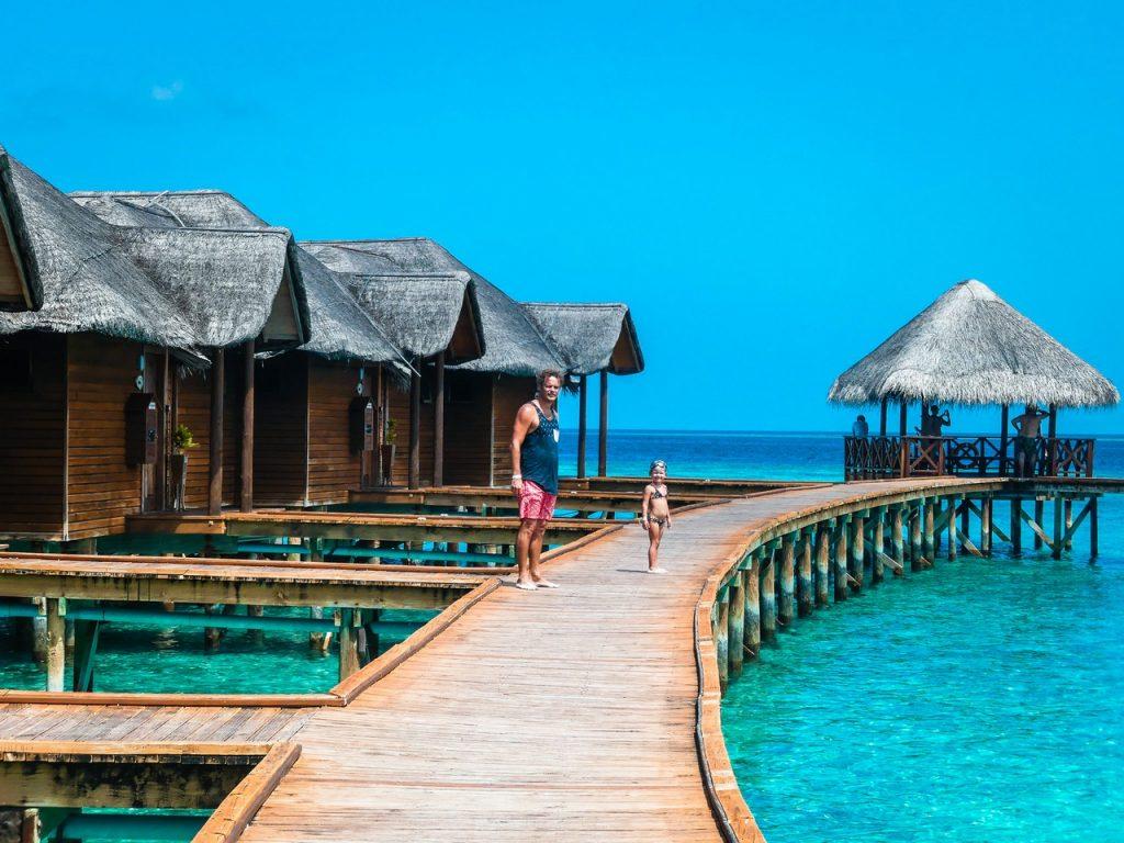 Malediven met kinderen gezin op reis