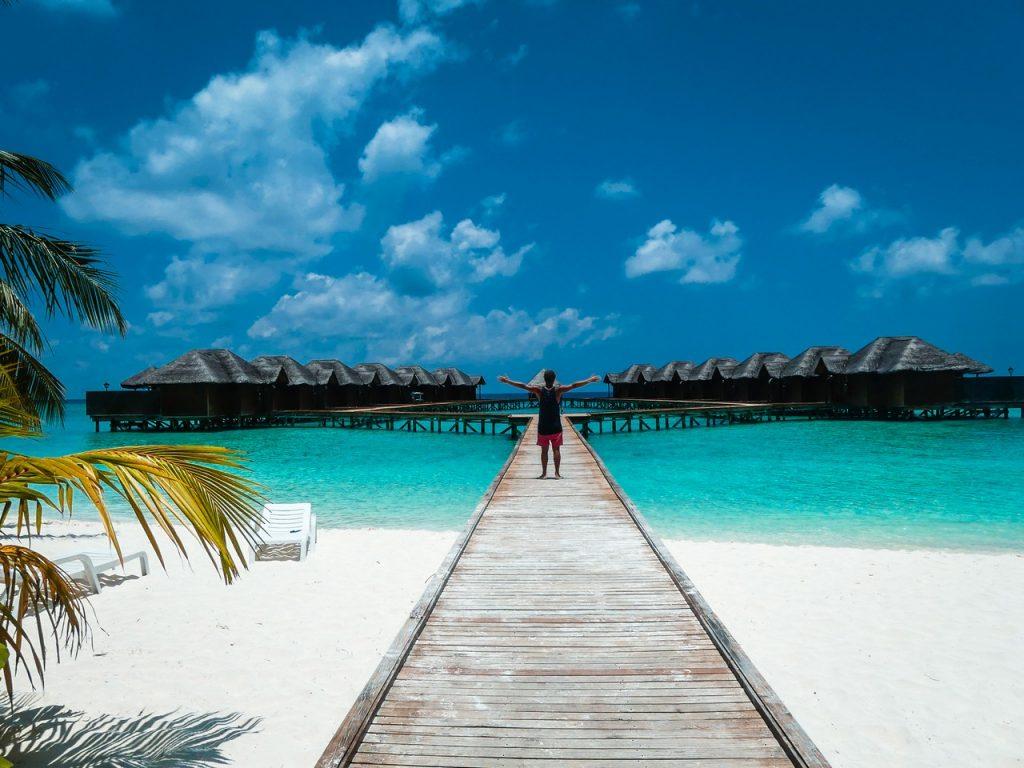 Bountyeiland met kinderen Malediven