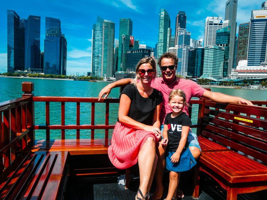 Singapore activiteit met kinderen boottocht