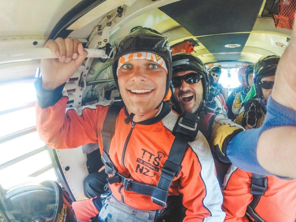 Skydiven nieuw zeeland taupo met kinderen
