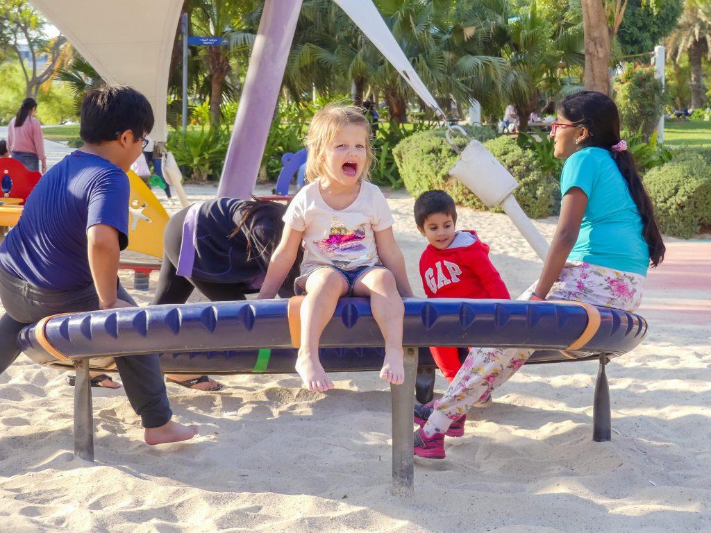 Speeltuin Dubai met gezin