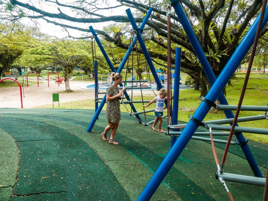 Speeltuin Singapore met gezin en kinderen