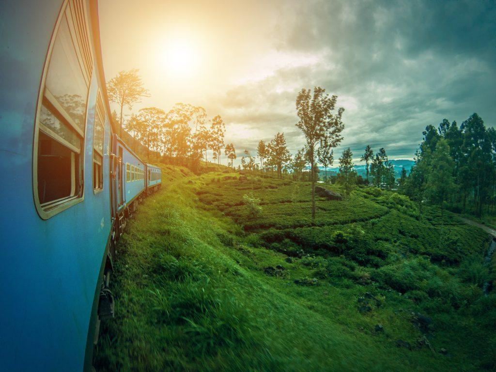 Trein Sri Lanka met gezin