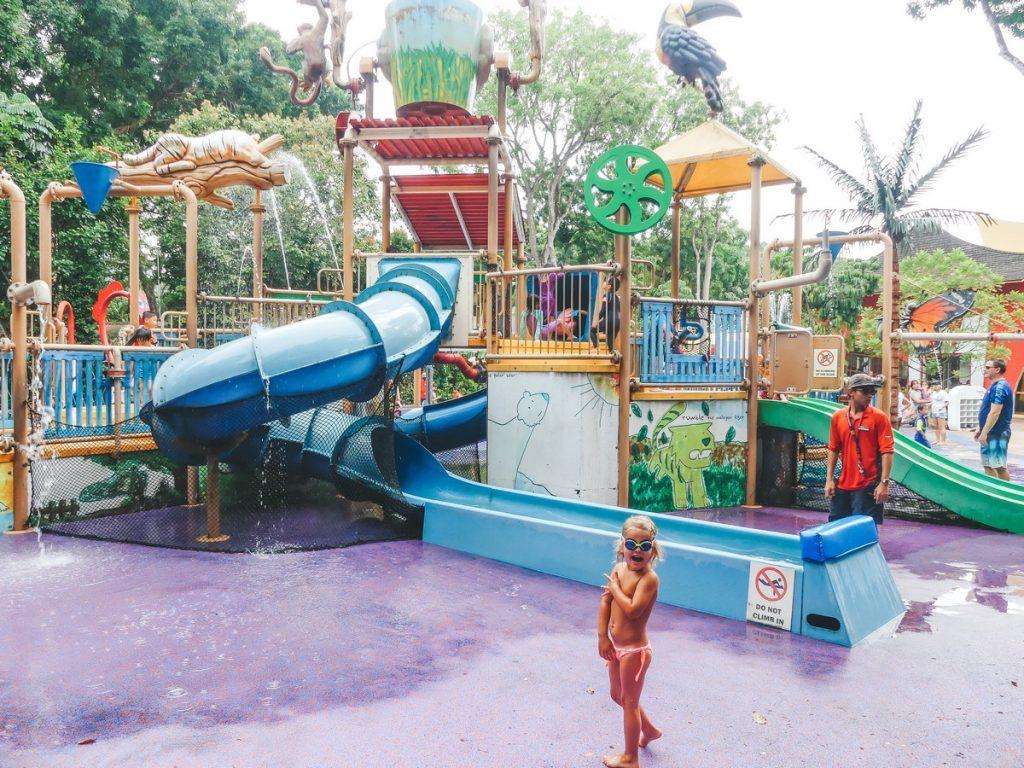 Waterpark Singapore zoo met kinderen