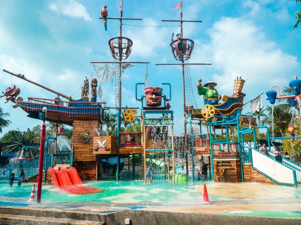 Waterspeeltuin Sentosa Eiland Singapore met kinderen