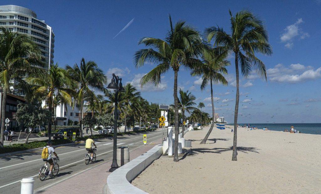 Fort Lauderdale strand met gezin