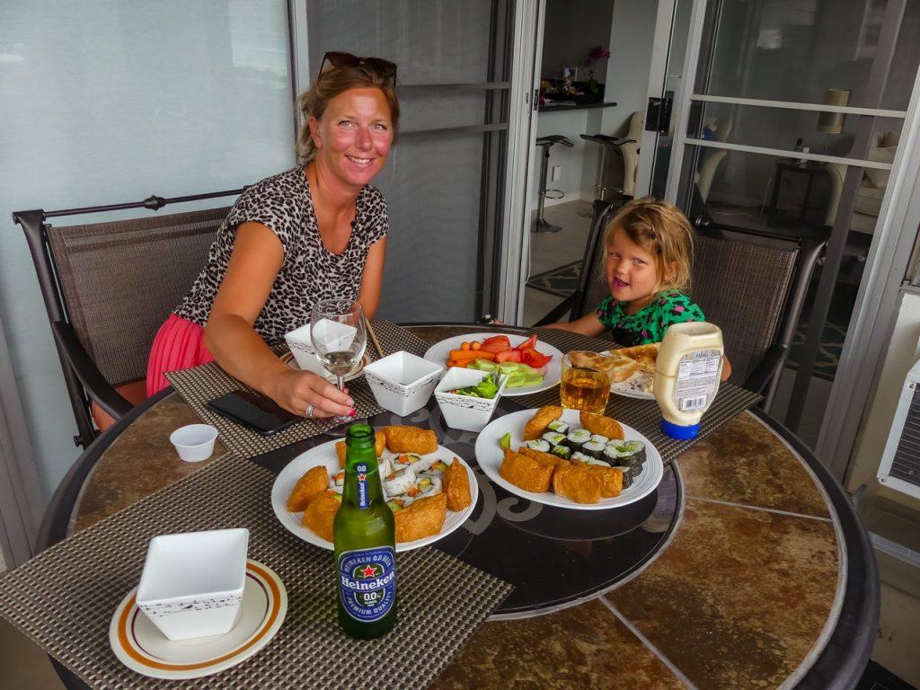 Honolulu appartement met gezin en kinderen