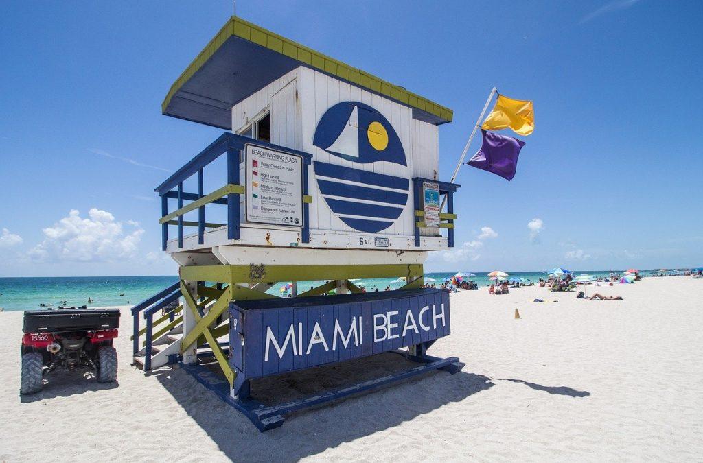 Miami Beach met gezin en kind