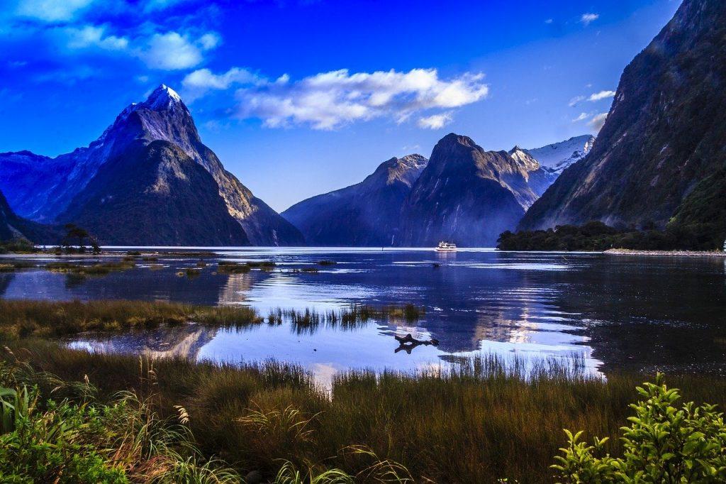 Milford Sounds met kinderen en gezin Nieuw Zeeland