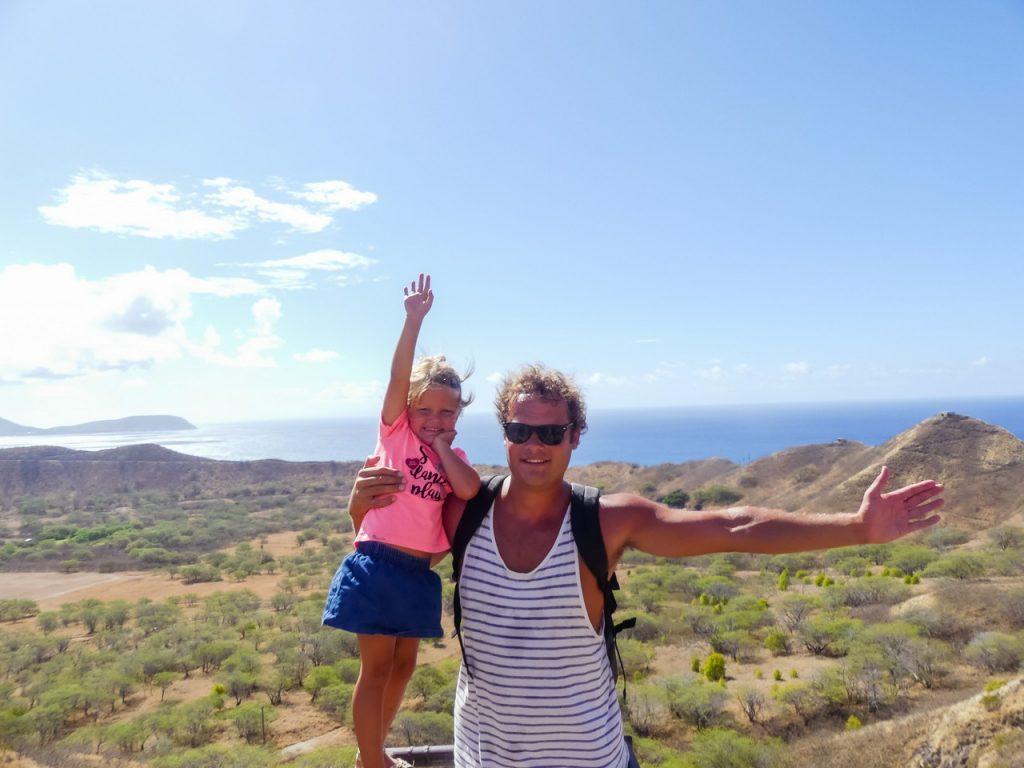 Trail lopen HAwaii met kinderen