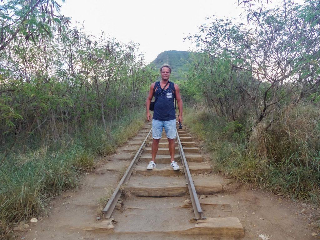Trail lopen ouders Hawaii met gezin