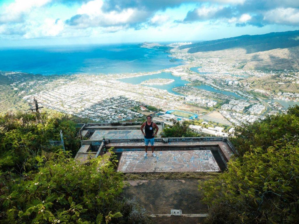Uitzicht Honolulu met kinderen en gezin