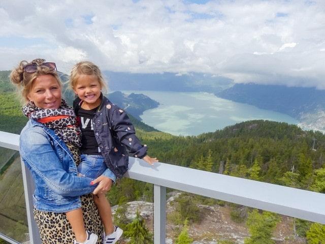 Whistler Canada met kinderen