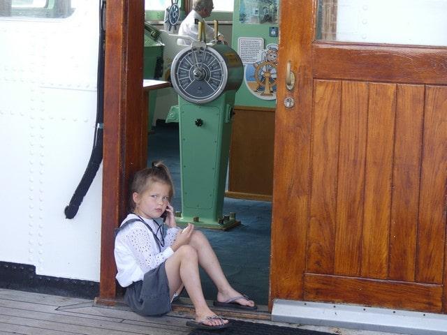 SS Rotterdam met kinderen