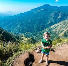 Little Adams Peak met kinderen en gezin